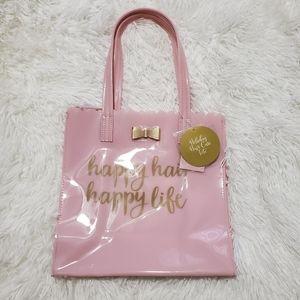 Handbags - Pink plastic tote